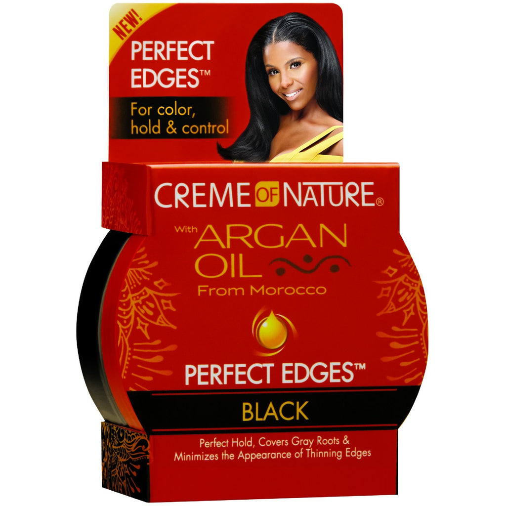 Creme Of Nature Argan Oil From Morocco Perfect Edges Black 2.25Oz/63.7G