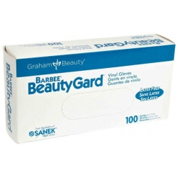Barbee Beautygard Vinyl Gloves (Small) 100 In Box