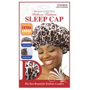 Donna Deluxe Pattern Prem Sleep Cap Extra Large Lepard