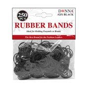 Donna Rubber Bands 250Ct Black
