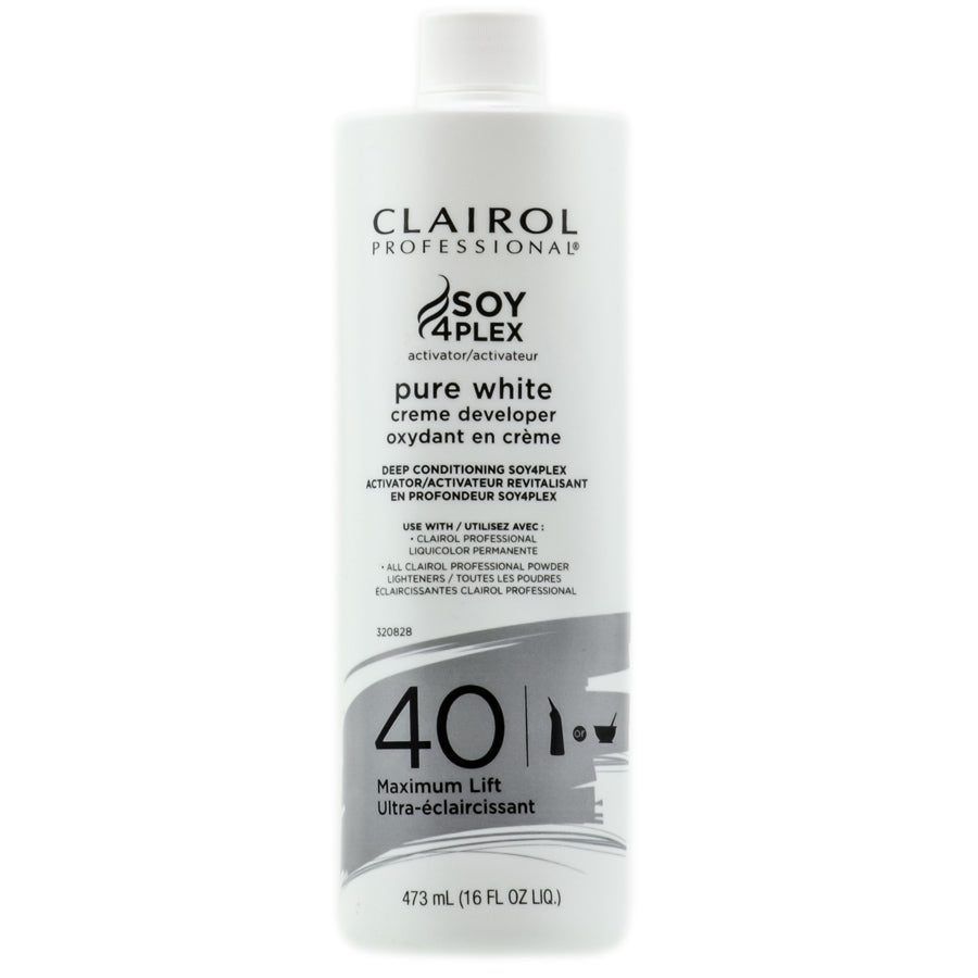 Pure White 40 Volume Creme Developer -Deep Conditioning- 16 Oz (CLAIROL PROFESSIONAL)