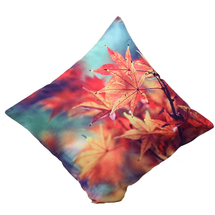 Super Deal 3D Flower Print Festival Pillow Case 2016 Fashion Sofa Bed Home Decoration Cushion Cover