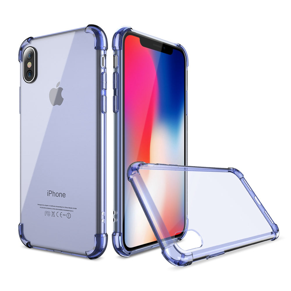 newest 715fe 5457c FLOVEME Classic Anti-knock TPU Case For iPhone X iPhone 7 8 Plus Clear  Silicon Shockproof Cover For iPhone X Cases Accessories
