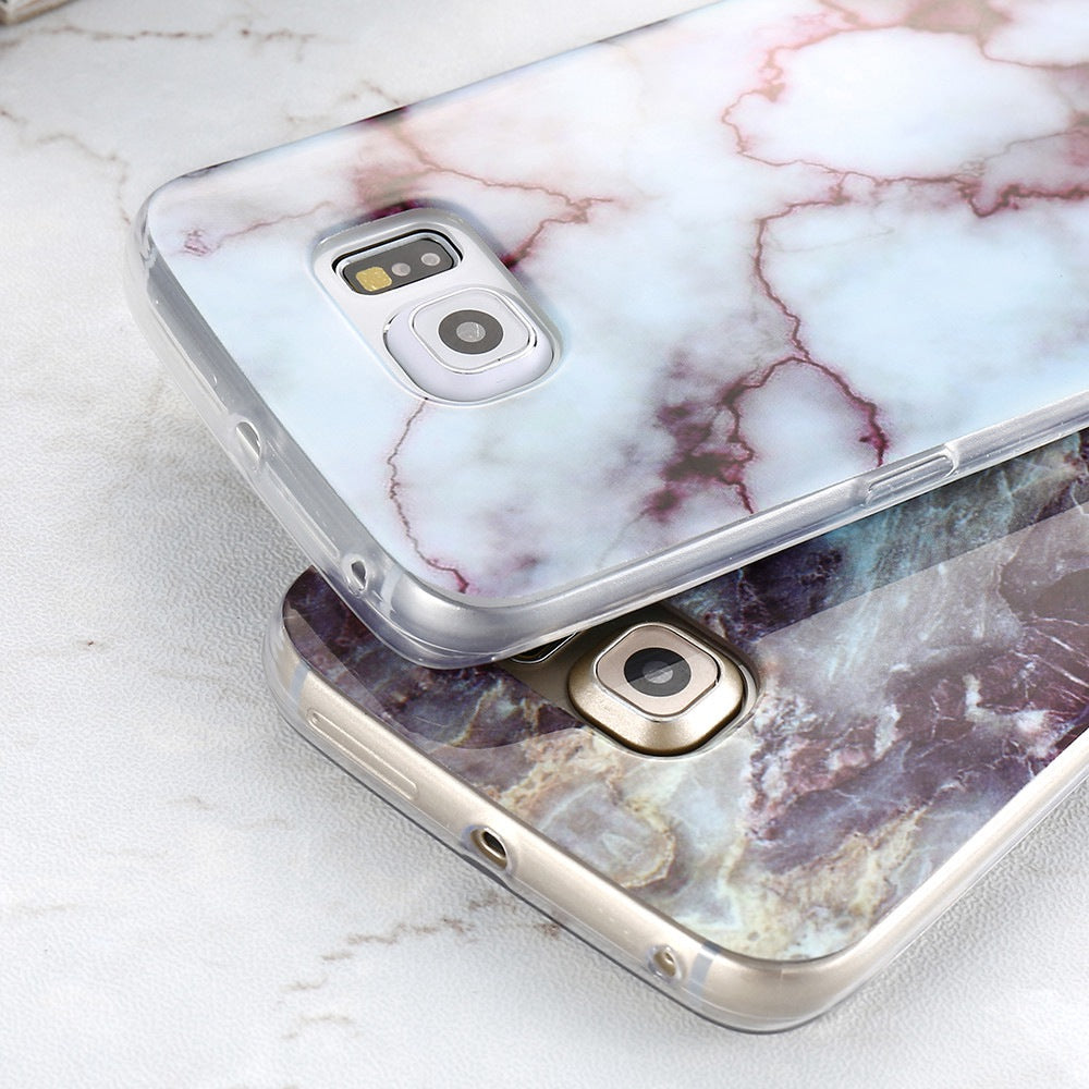various colors 245e9 159b4 FLOVEME Marble Skin Case For Samsung Galaxy S8 Plus S7 S6 Edge S4 Soft  Silicon Phone Cases For Samsung S8 Galaxy S7 S6 Cover S4