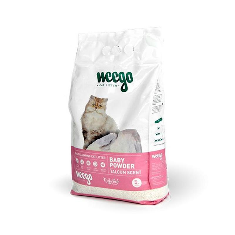 Weego Baby Powder Talcum Scent - Natural Cat Litter -