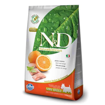 Farmina N&D Grain-Free Mini Adult Poisson et Orange