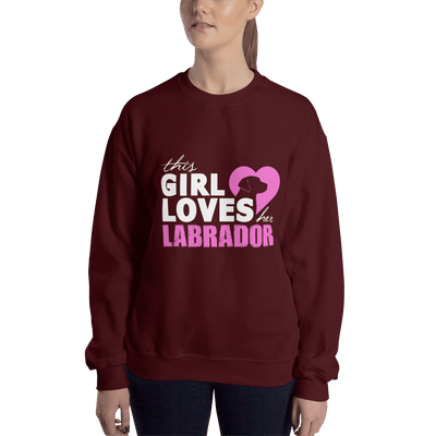 "Pullover ""THIS GIRL LOVES HER LABRADOR"""