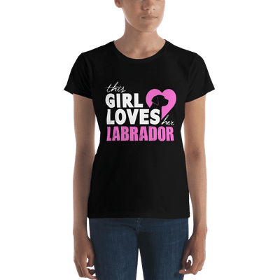"T-shirt ""This Girl loves her Labrador"""