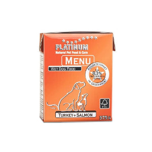 Platinum Menu Turkey & Salmon 375g