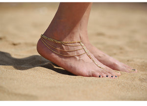 Multilayer Tassel Anklets - Sadie Cole