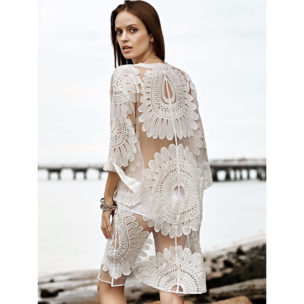 Crochet Lace Beachwear - Sadie Cole