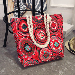 Bohemian Canvas Beach Bag - Sadie Cole