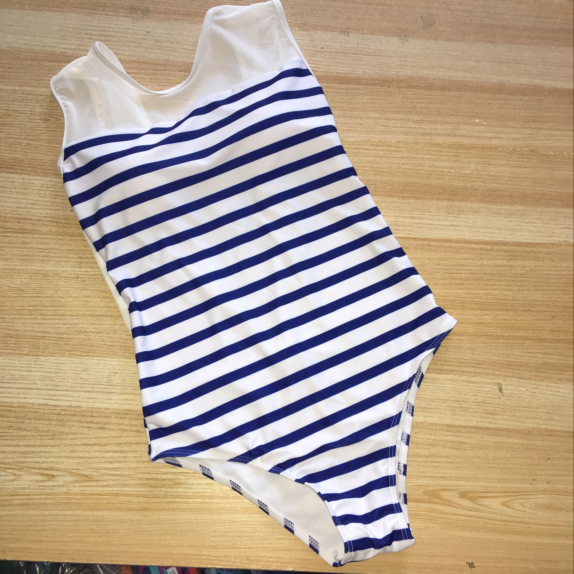 Striped Monokini Swimwear - Sadie Cole