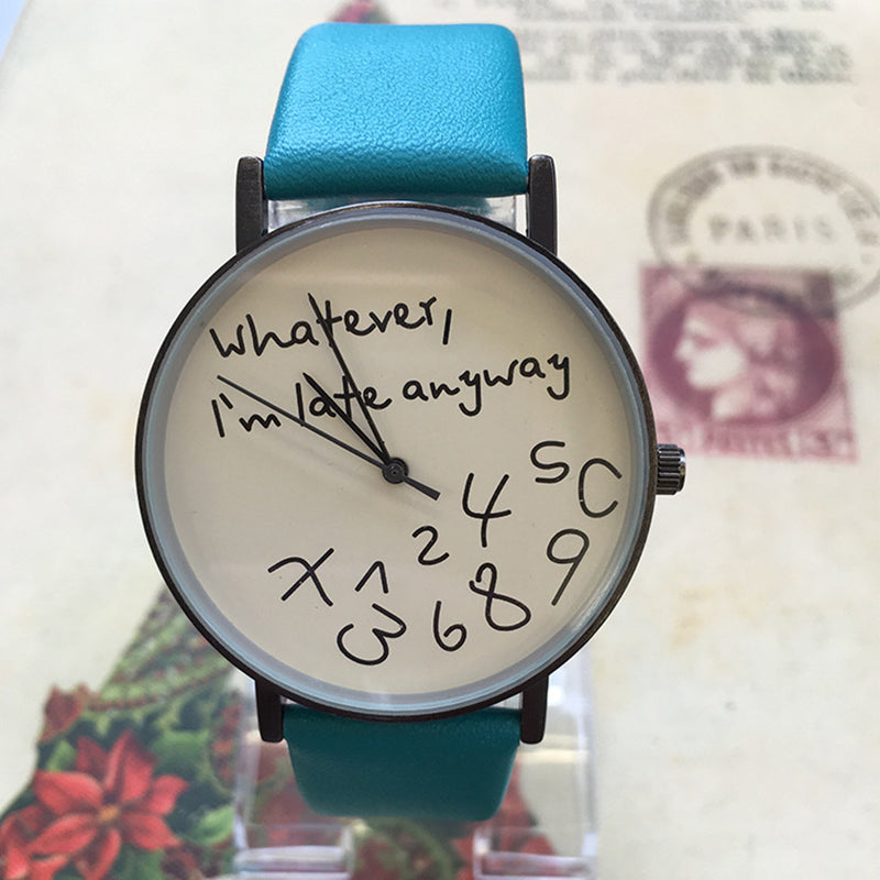 '..I'm Late Anyway' Wristwatch - Sadie Cole