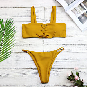Lace Up Brazilian Bikini | Swimwear - Sadie Cole