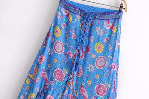 Boho Print Long Skirt - Sadie Cole