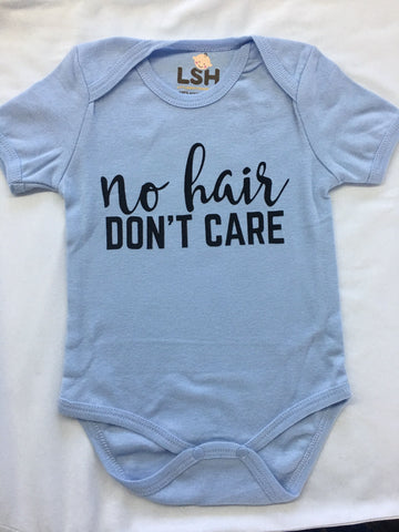 Organic Cotton Baby Onesie - No Hair, Don't Care