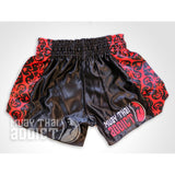Royal Red Black Shorts