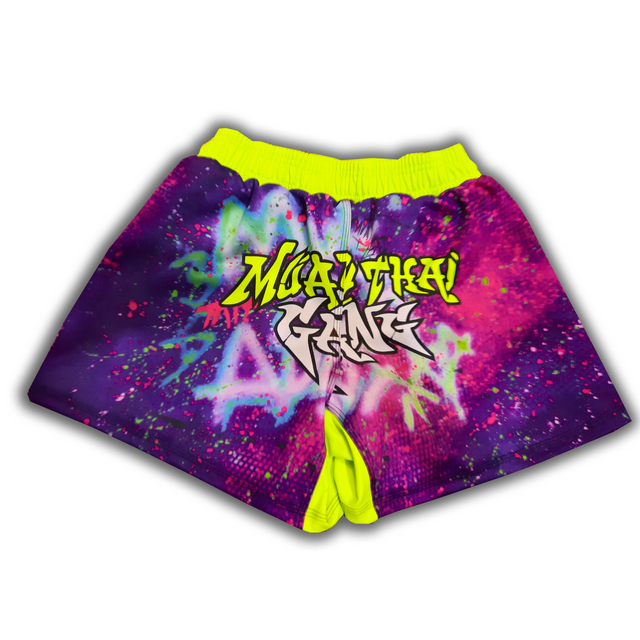 Neon Green Graffiti Competition Short