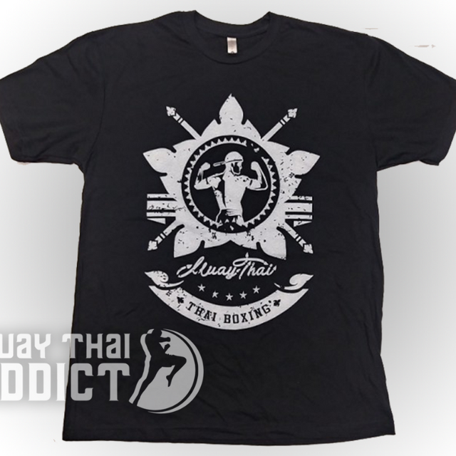 Koa Warrior Tee - Black/Silver