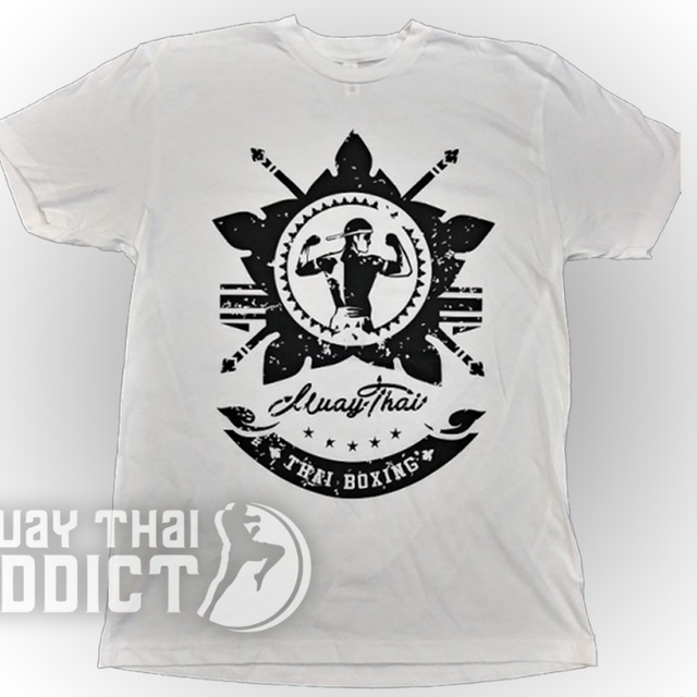 Koa Warrior Tee - White/Black