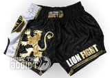 LF Golden Lion Muay Thai Shorts - Black