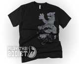 Lion Fight - Grey King T-shirt