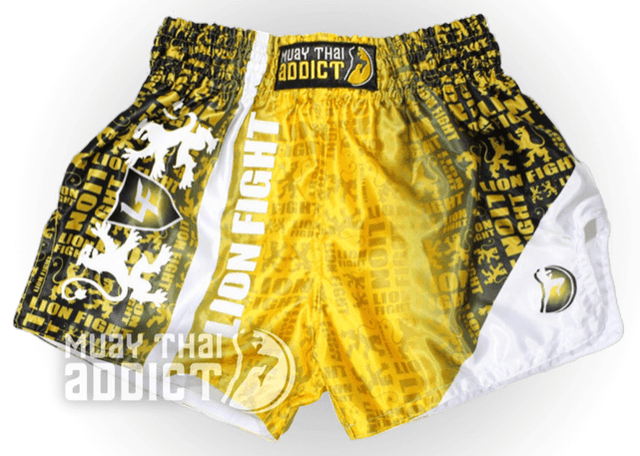 Lion Fight Gold Matrix Shorts