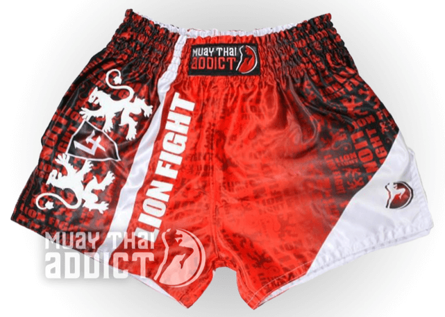 Lion Fight Red Matrix Shorts