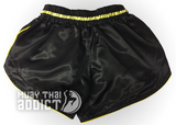 Night Fighter Black and Yellow Retro Short