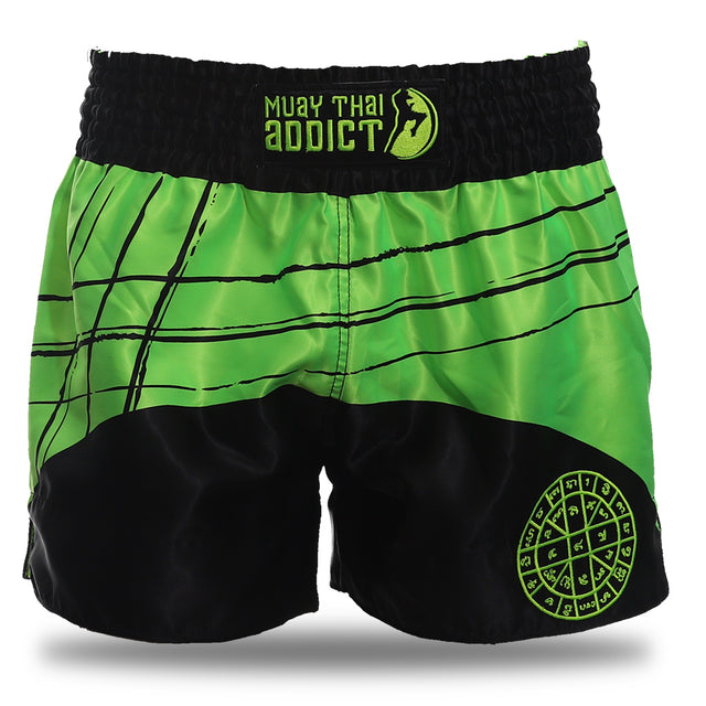 Baramee Phra B.C. Shorts - Green and Black