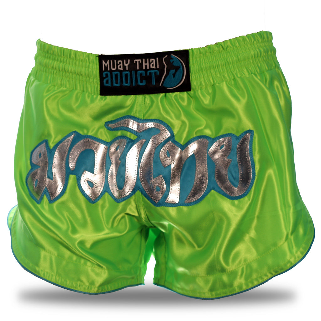 Tropical Green Retro Shorts