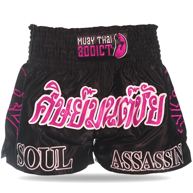 Black Soul Assassin Muay Thai Shorts