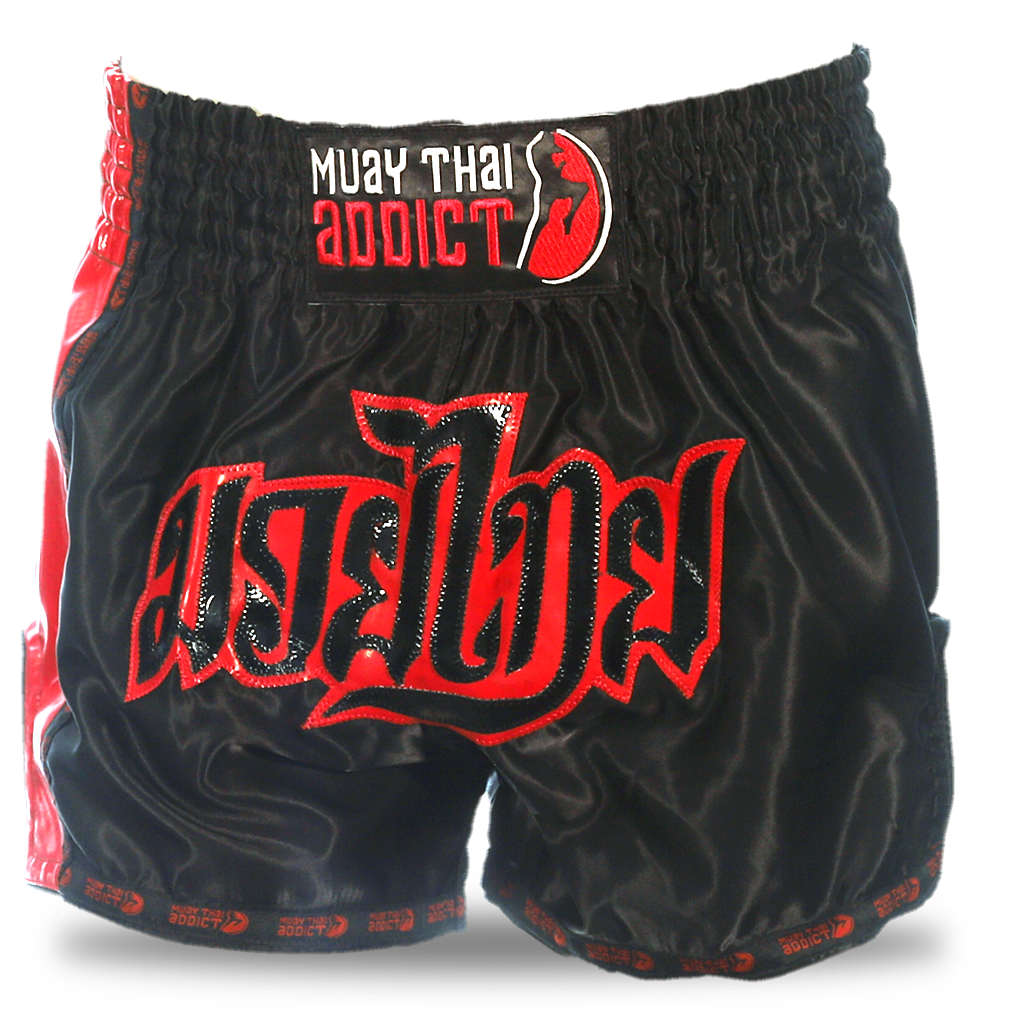 Midnight Fire Retro Muay Thai Shorts