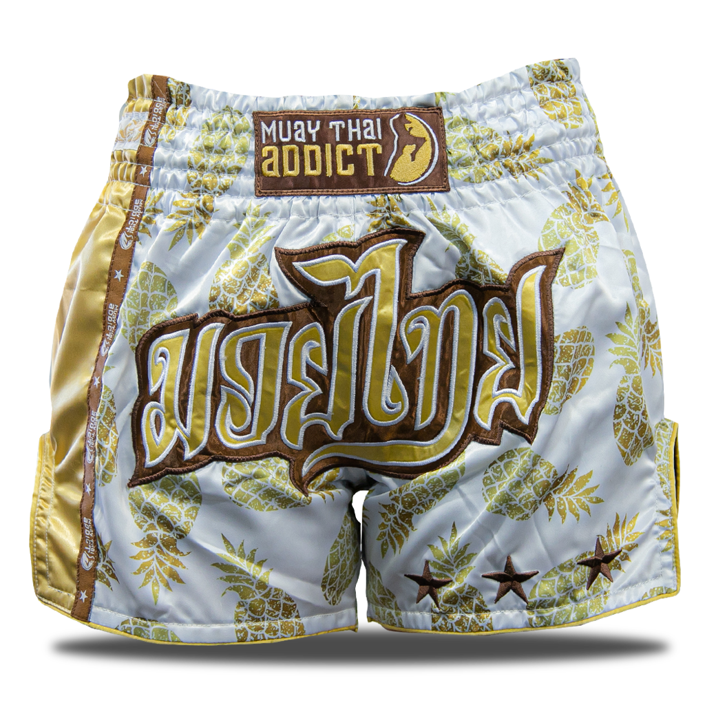 Golden Pineapple Muay Thai Shorts