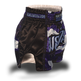 Blue Camo Single Panel Stars Muay Thai Shorts