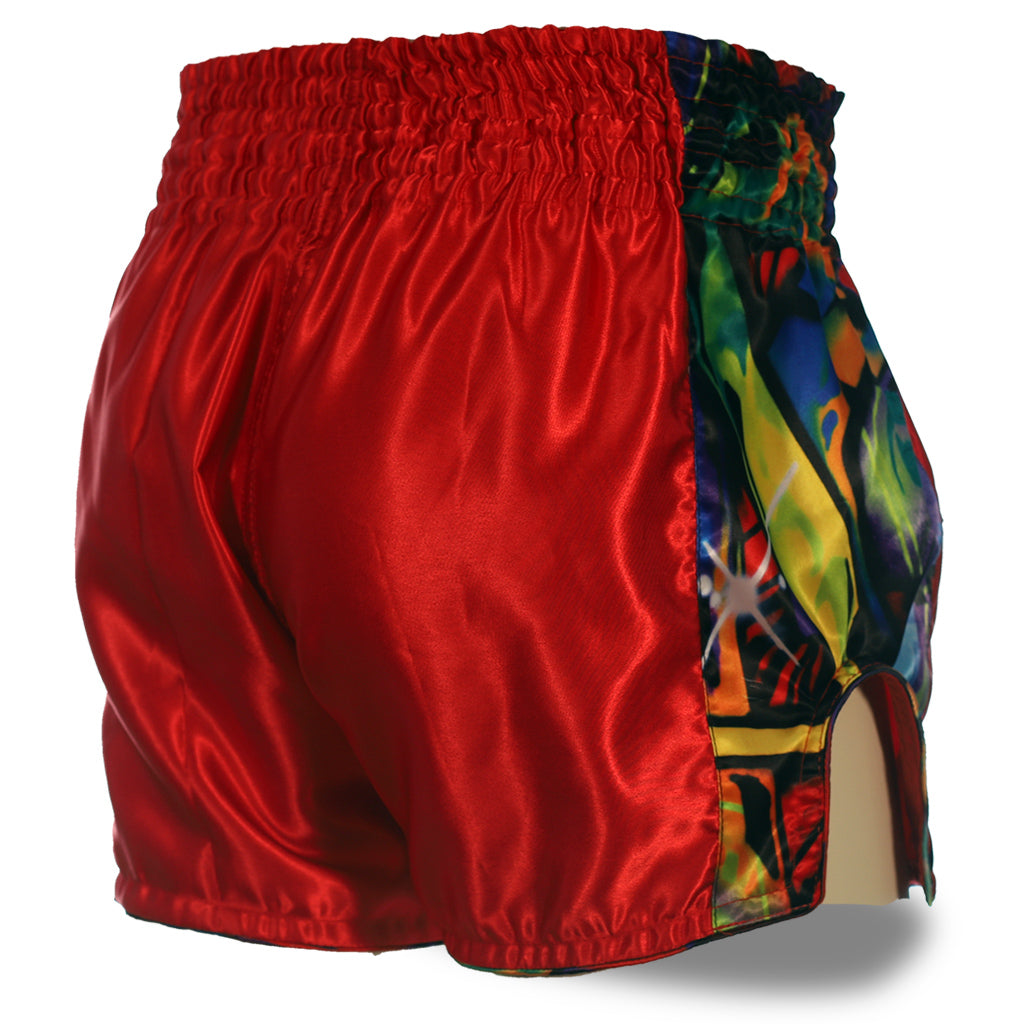 Red Muay Thai Graffiti Shorts