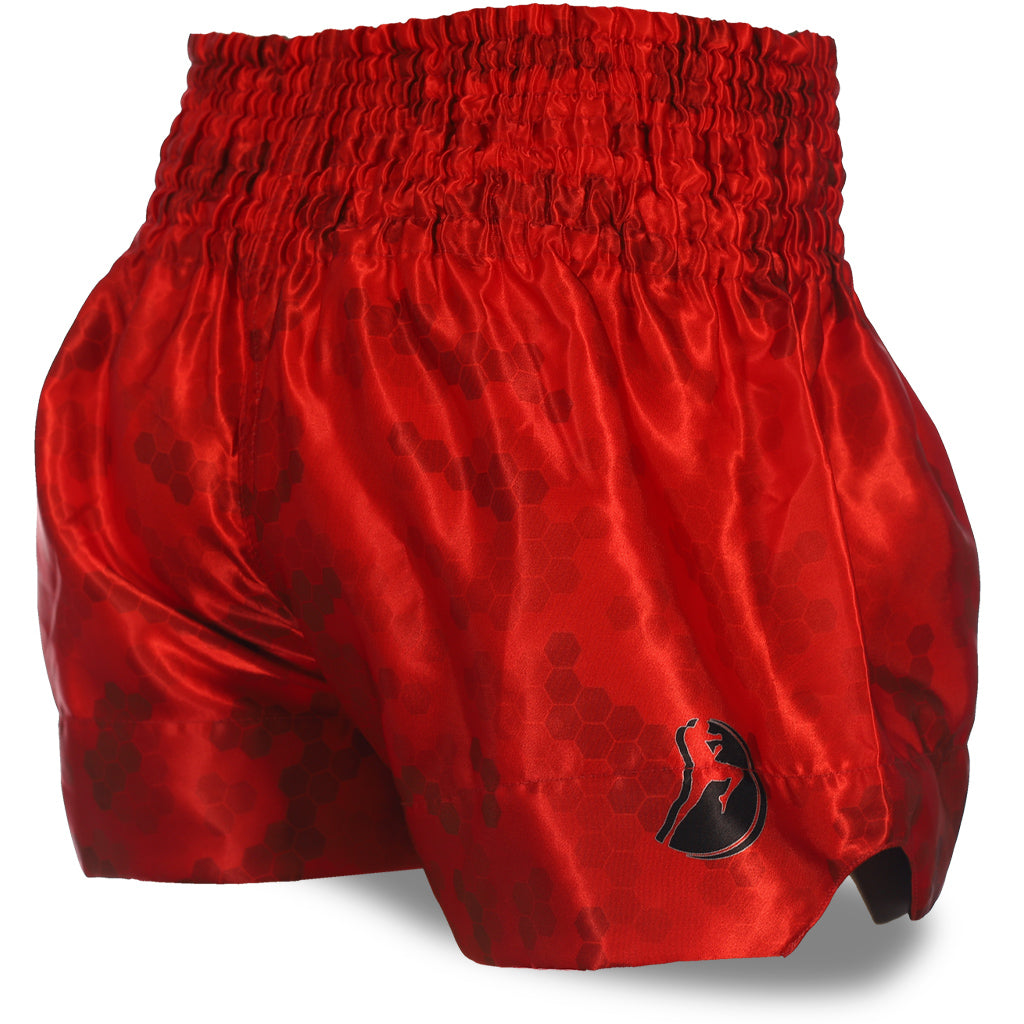 Red Honeycomb Camo Muay Thai Shorts