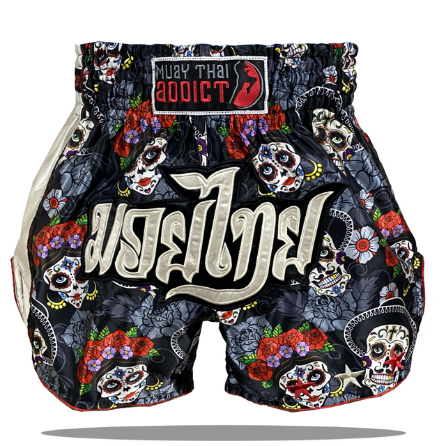 Sugar Skull Garden Muay Thai Shorts
