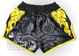 Siam Fight Offical Muay Thai Shorts (Black/Yellow)