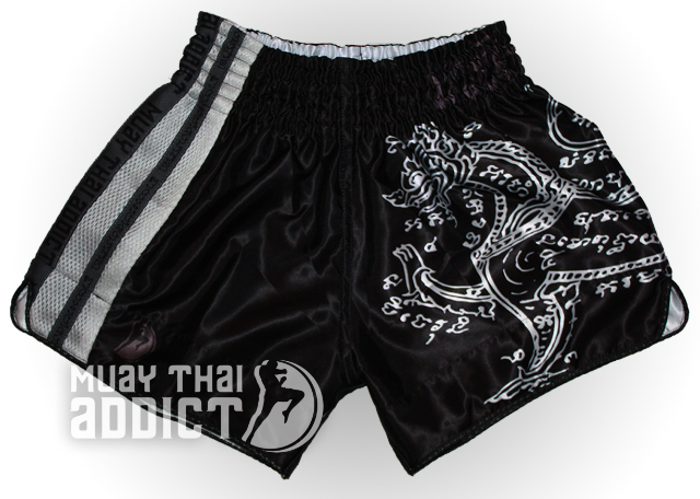 Phaya Rachasi Shorts - White on Black