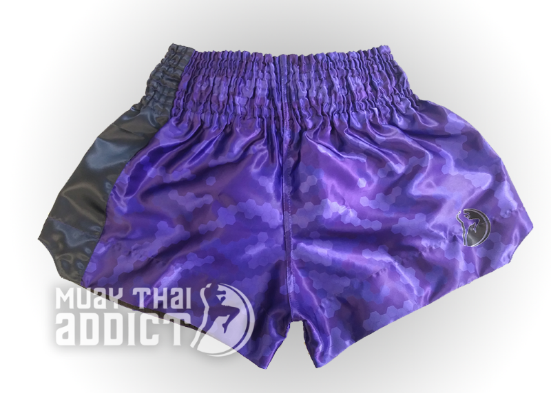 Blue Honeycomb Camo Muay Thai Shorts