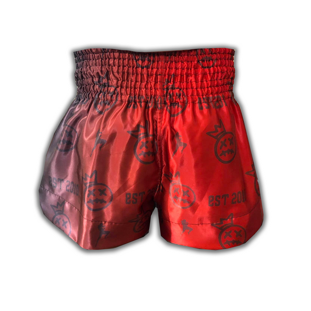 Red Crown Collector  Muay Thai Shorts