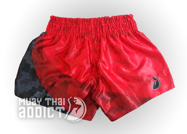 Honeycomb Fade Camo Muay Thai Shorts - Red