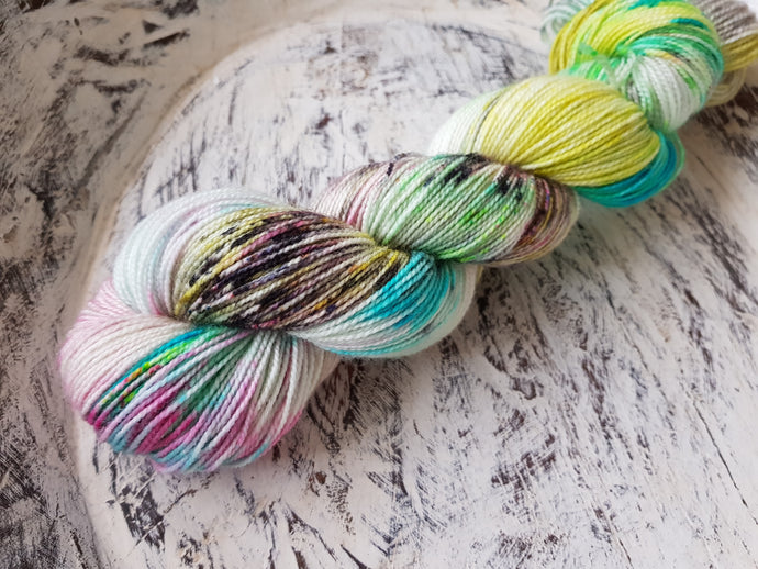 Skating at the pool - BFL - Bluefaced Leicester fingering weight 4 ply