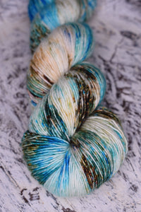 Beach Walk - Merino Singles - single ply fingering weight