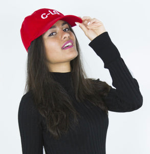 "Red ""C-Lo"" Dad Hat"