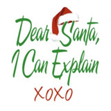 Dear Santa, I CAN EXPLAIN - TSHIRT