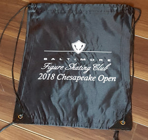 Baltimore Figure Skater's Tote Drawstring Bag - 2018 Chesapeake Open