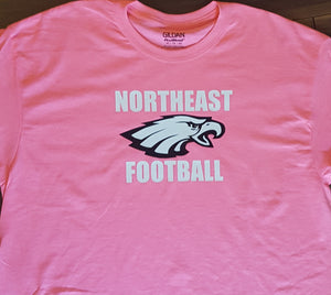 GO PINK!!! Northeast Football T Shirts